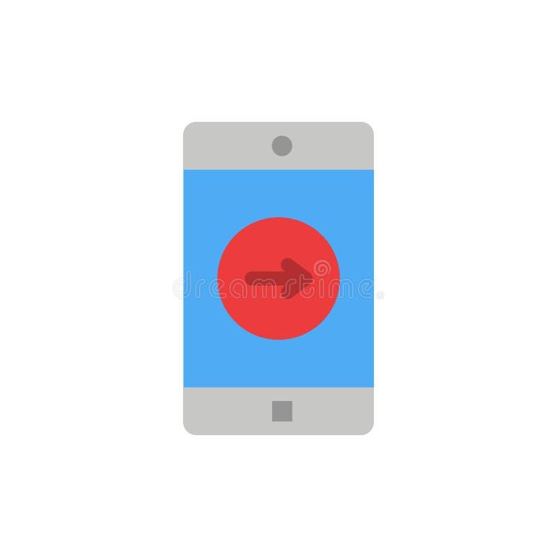 Toepassing, het juiste, Mobiele, Mobiele Pictogram van de Toepassings Vlakke Kleur Het vectormalplaatje van de pictogrambanner stock illustratie