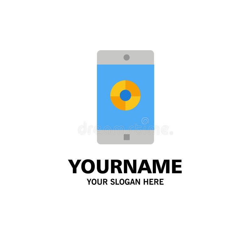 Toepassing, Mobiele, Mobiele Toepassing, Doelzaken Logo Template vlakke kleur stock illustratie
