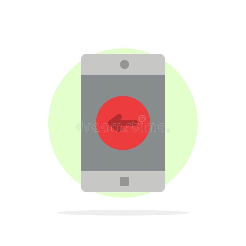 Toepassing, Mobiele, Mobiele Toepassing, linker Abstract Cirkel Achtergrond Vlak kleurenpictogram royalty-vrije illustratie