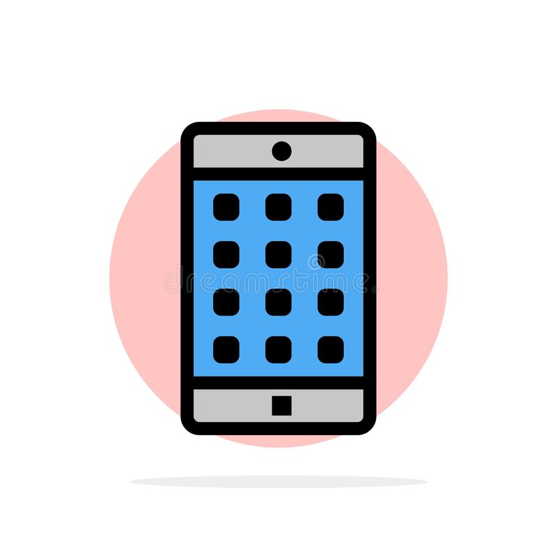 Toepassing, Mobiele, Mobiele Toepassing, van de Achtergrond wachtwoord Abstract Cirkel Vlak kleurenpictogram royalty-vrije illustratie