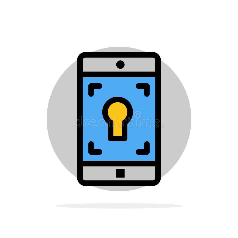 Toepassing, Mobiele, Mobiele Toepassing, van de het Achtergrond scherm Abstract Cirkel Vlak kleurenpictogram vector illustratie