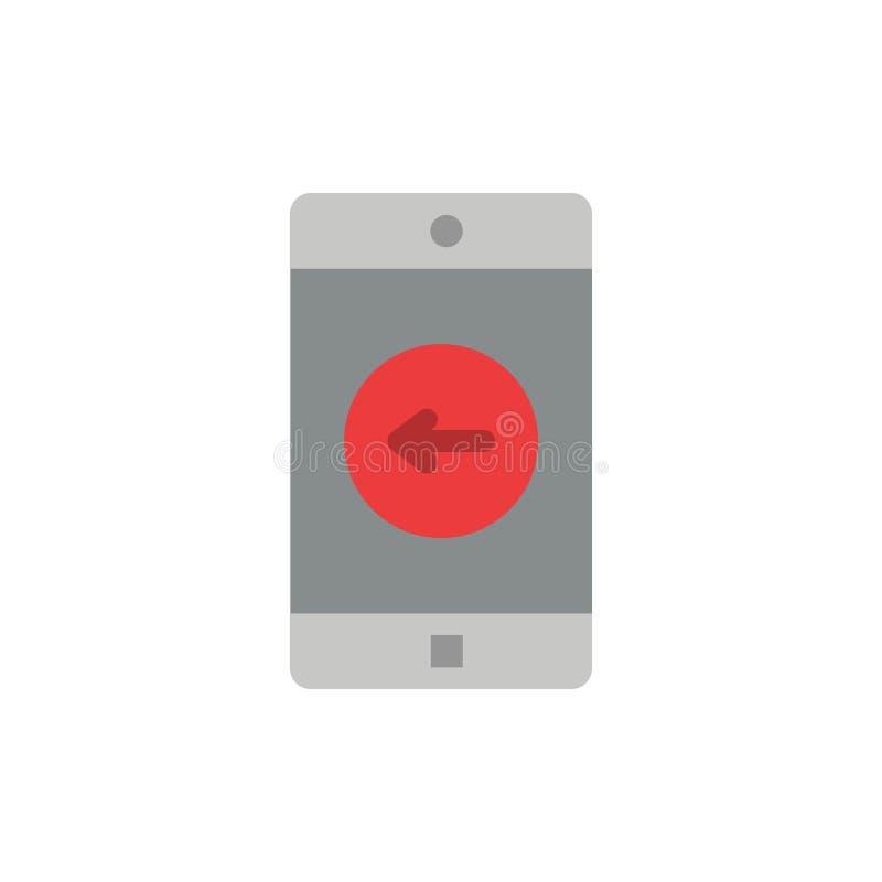 Toepassing, Mobiele, Mobiele Toepassing, verlaten Vlak Kleurenpictogram Het vectormalplaatje van de pictogrambanner vector illustratie