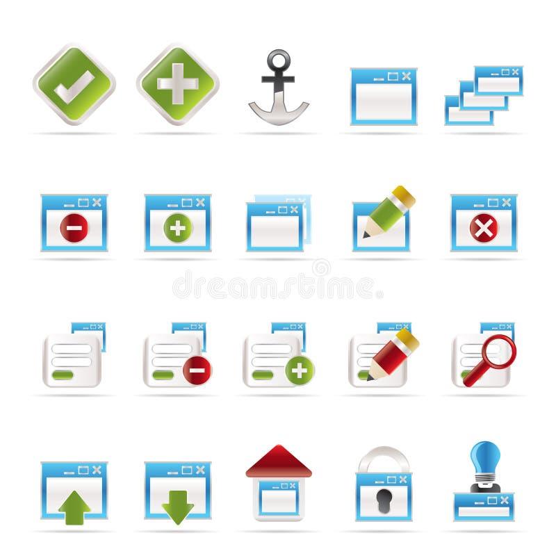 Toepassing, Programmering, het pictogram van de Server en van de computer royalty-vrije illustratie