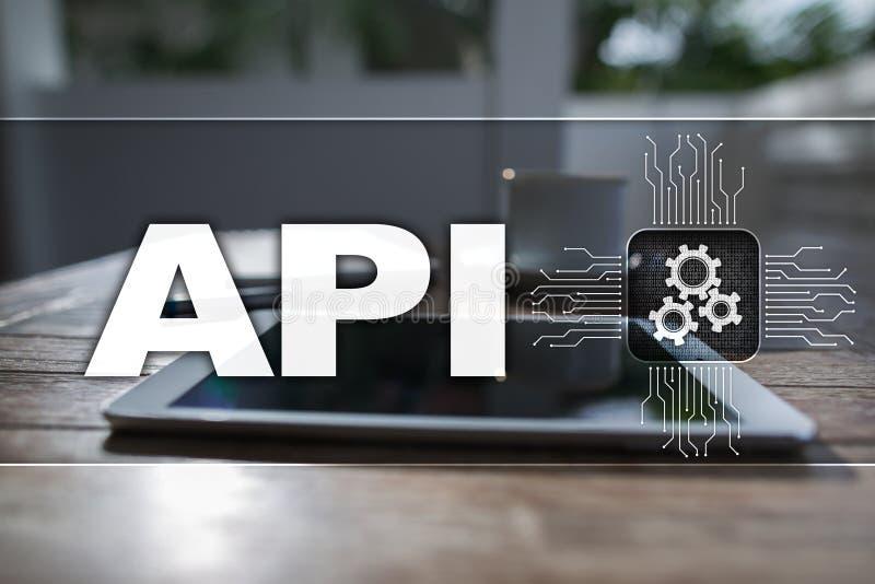 Toepassing programmeringsinterface API Software-ontwikkelingconcept stock illustratie
