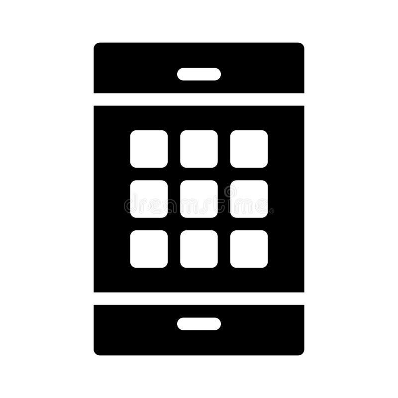 Toepassingen glyph vlak vectorpictogram stock illustratie