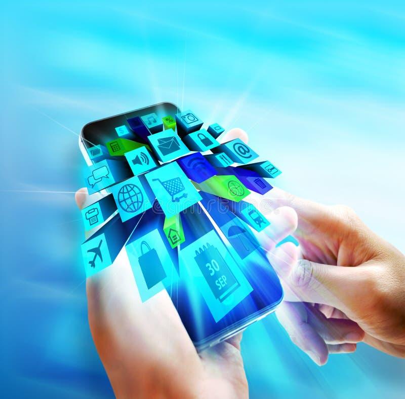 Toepassingen op mobiel vector illustratie