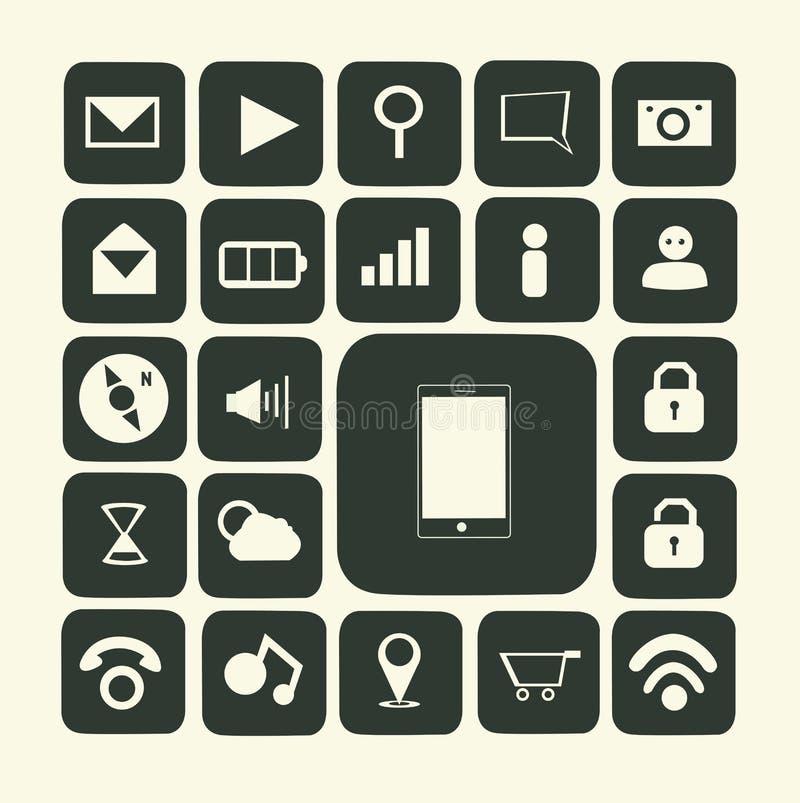 Toepassingspictogrammen voor smartphone stock illustratie