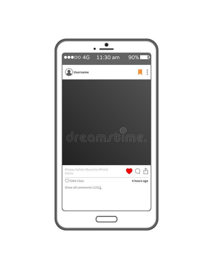 Toepassingspost op de Vectorillustratie van Smartphone vector illustratie