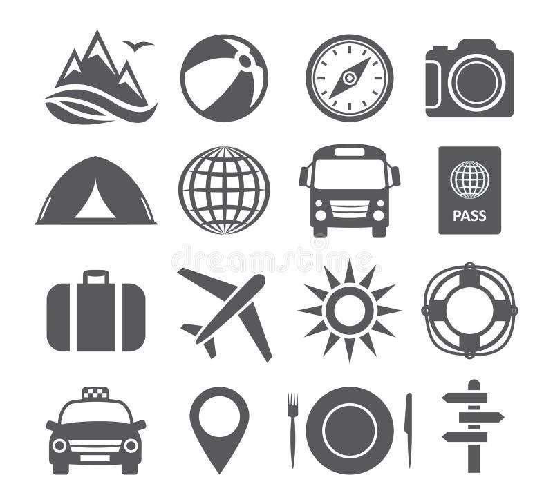 Toerisme en reispictogrammen vector illustratie
