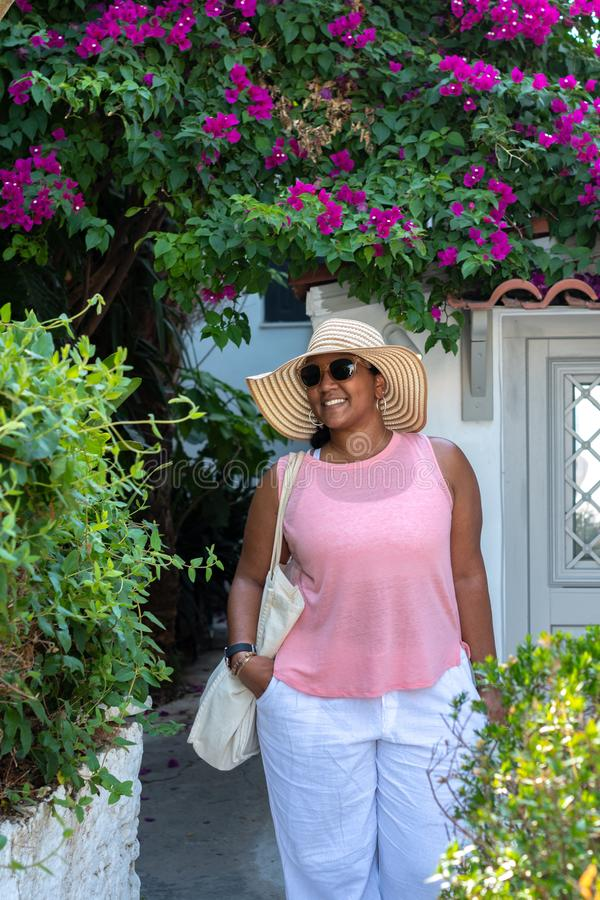 Toerist in Athene Griekenland stock foto