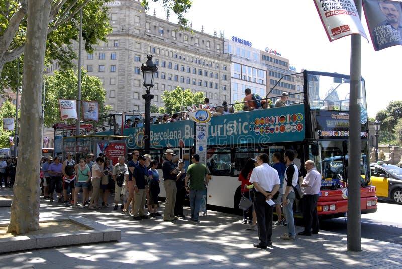 TOERIST IN BARCELONA stock fotografie