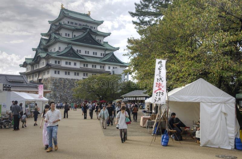 Toerist bij het Kasteel van Nagoya stock foto
