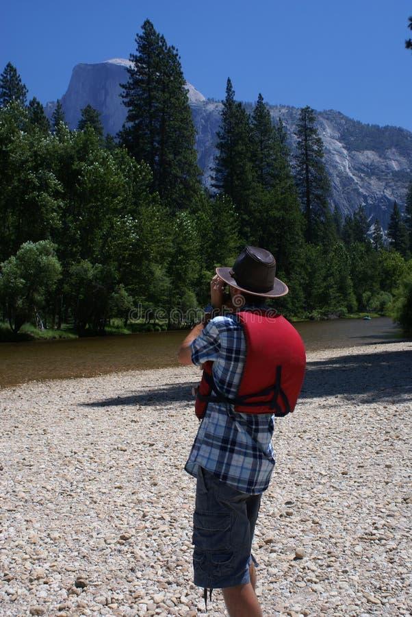 Toerist of Fotograaf stock afbeelding