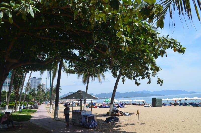 Toerist van Vietnam van het Nha trang strand _ royalty-vrije stock foto's