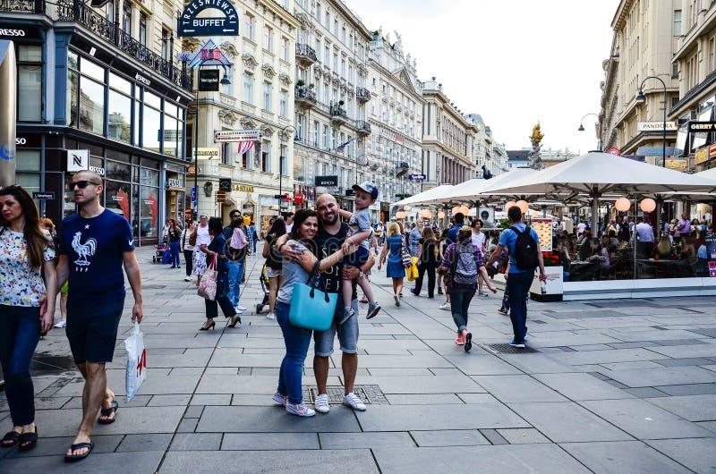 Toerist in Wenen, Oostenrijk stock fotografie