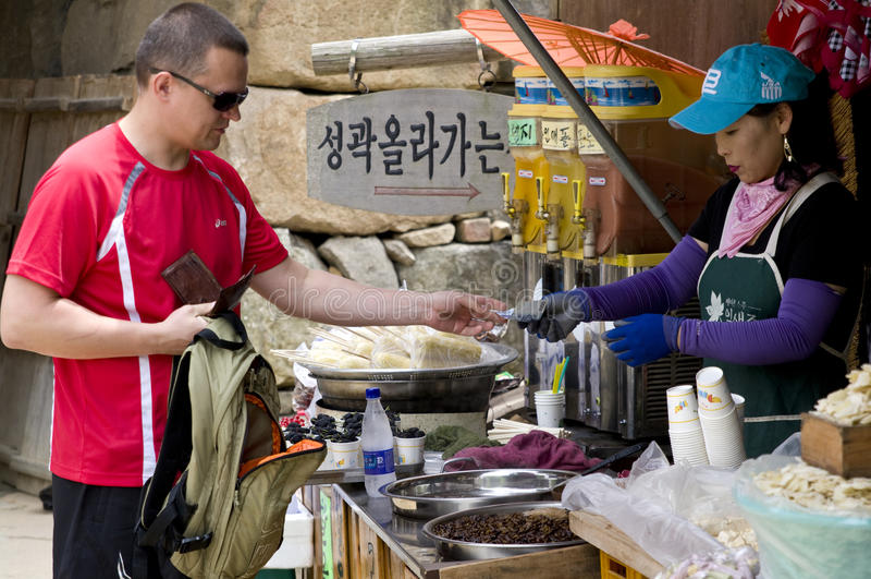Toerist in Zuid-Korea royalty-vrije stock foto