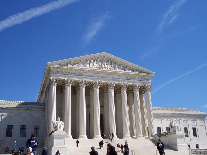 Toeristen bij het Hooggerechtshof royalty-vrije stock afbeelding