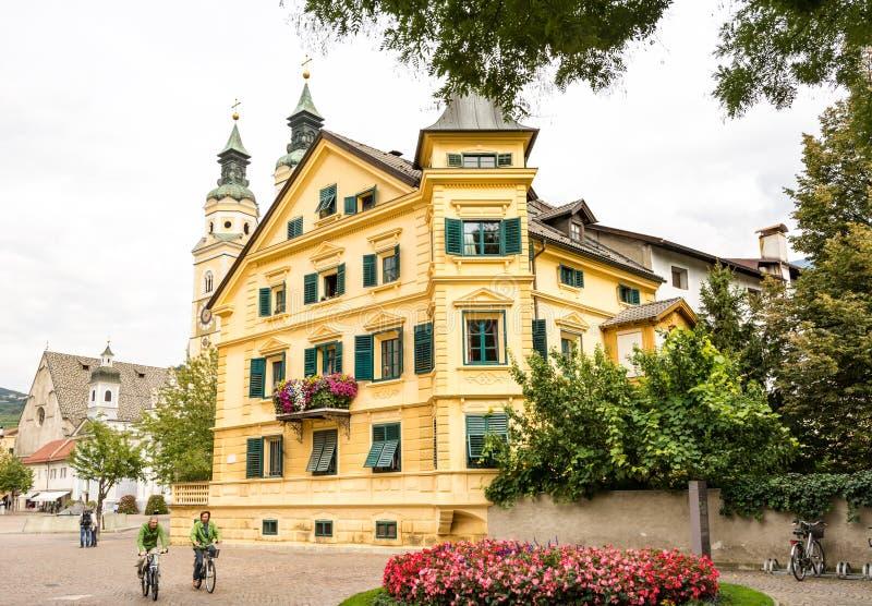 Toeristen in Brixen royalty-vrije stock fotografie