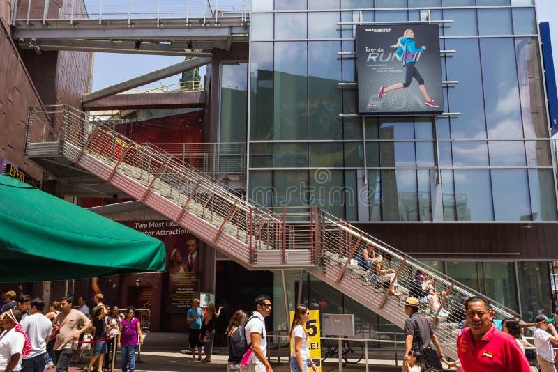 Toeristen die in Los Angeles winkelen stock foto's