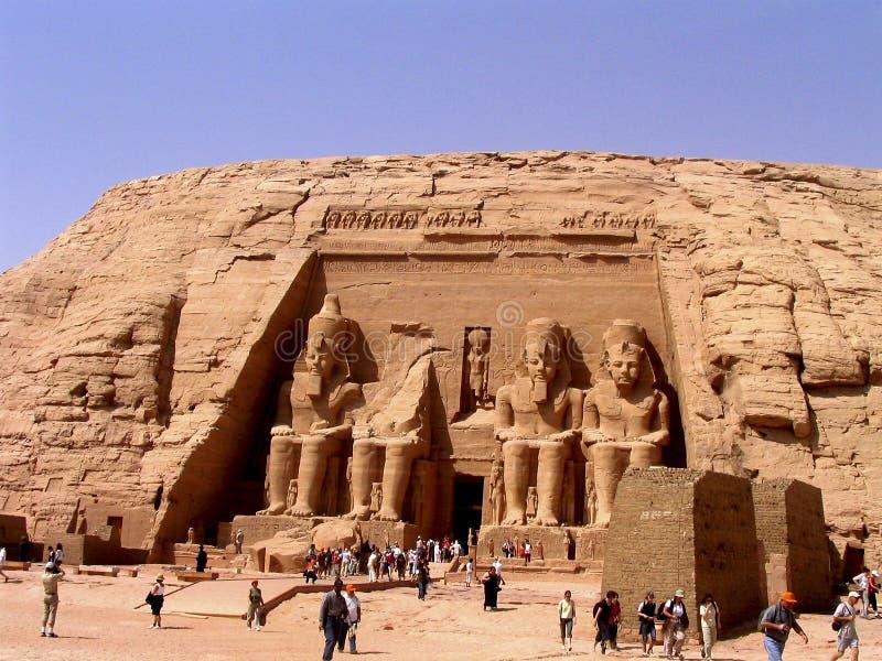 Toeristen in Egypte stock foto