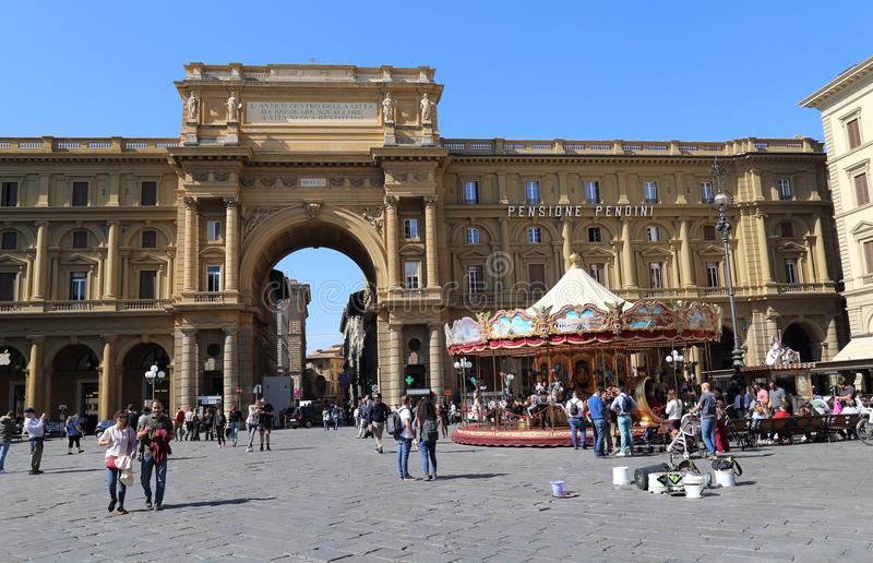 Toeristen in Florence, Italië royalty-vrije stock afbeeldingen