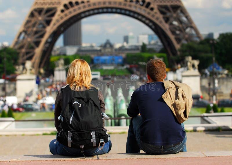 Toeristen in Frankrijk royalty-vrije stock foto's