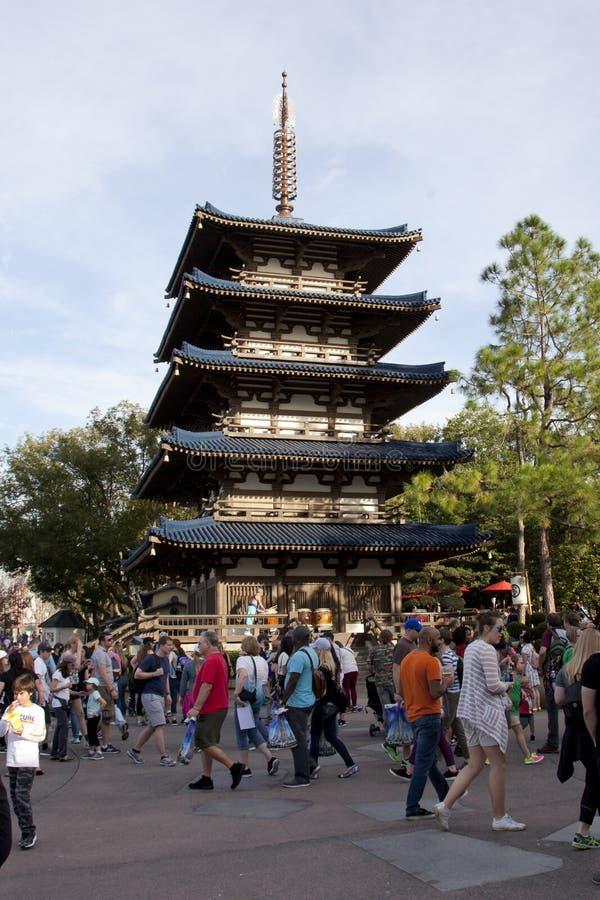 Toeristen in Japan, wereldshowcase stock afbeelding