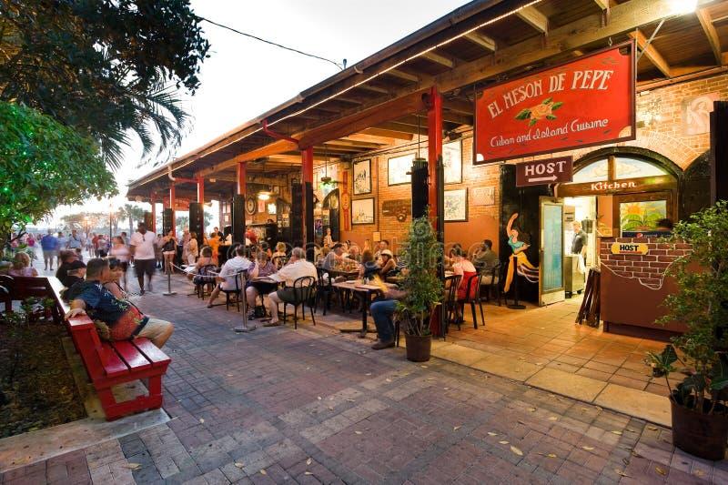 Toeristen in Key West stock foto's
