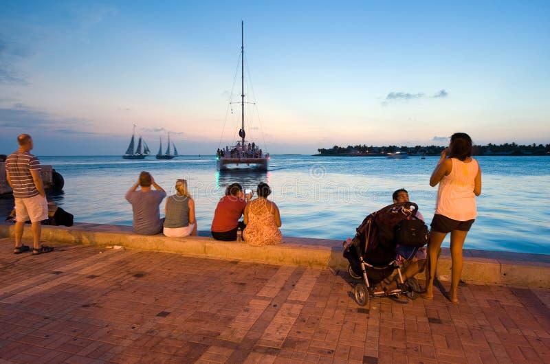 Toeristen in Key West stock fotografie