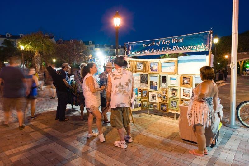 Toeristen in Key West stock foto