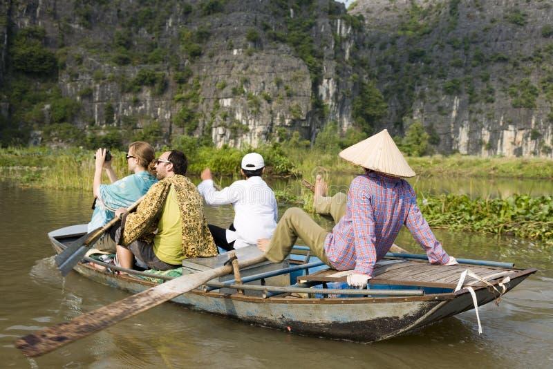 Toeristen in Ninh Binh stock foto