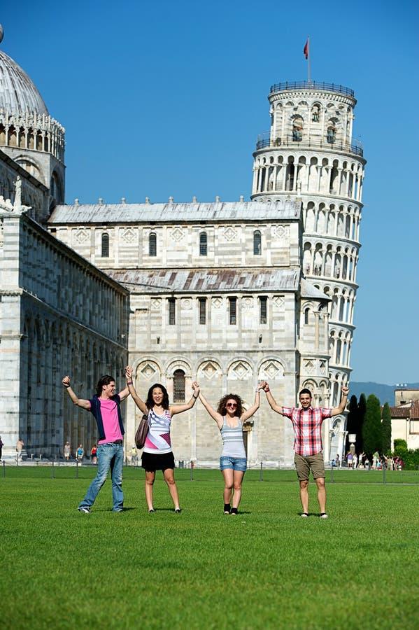 Toeristen in Pisa royalty-vrije stock foto