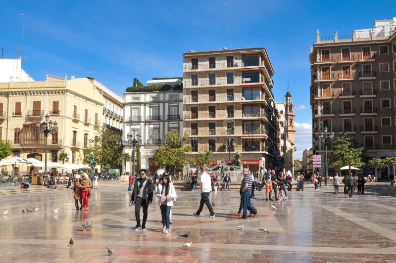 Toeristen in Valencia stock fotografie