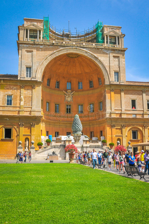 Toeristen in Vatikaan, Rome, Italië royalty-vrije stock afbeelding