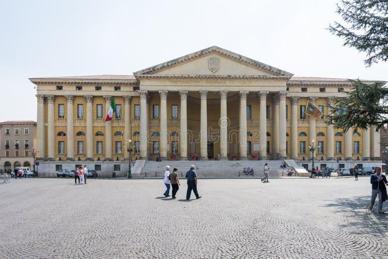 Toeristen in Verona royalty-vrije stock foto