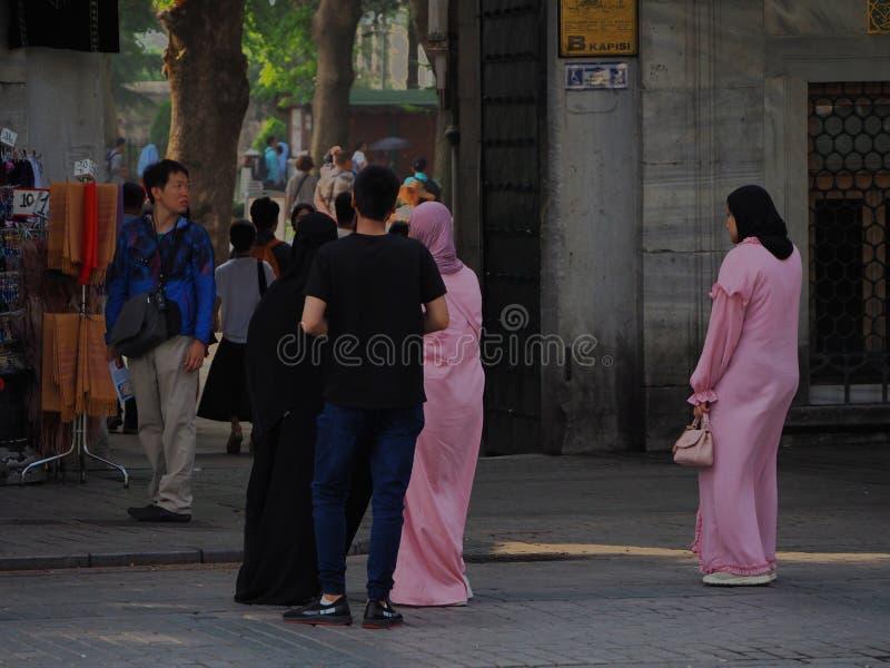 Toeristengroep in Istanboel stock foto's