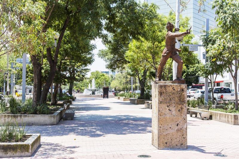 Toeristenmonumenten van de stad van Guadalajara stock foto's