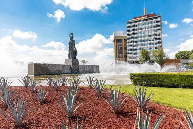 Toeristenmonumenten van de stad van Guadalajara stock afbeelding