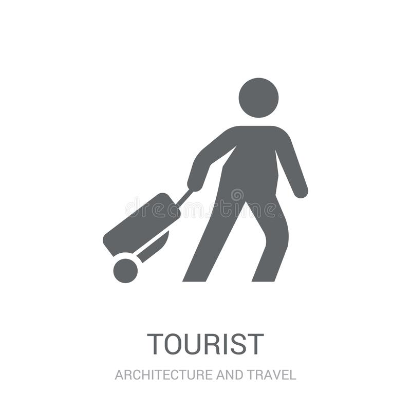 Toeristenpictogram  stock illustratie