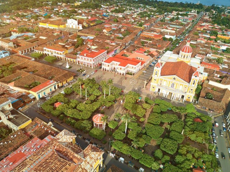 Toeristenstad in Nicaragua stock afbeelding