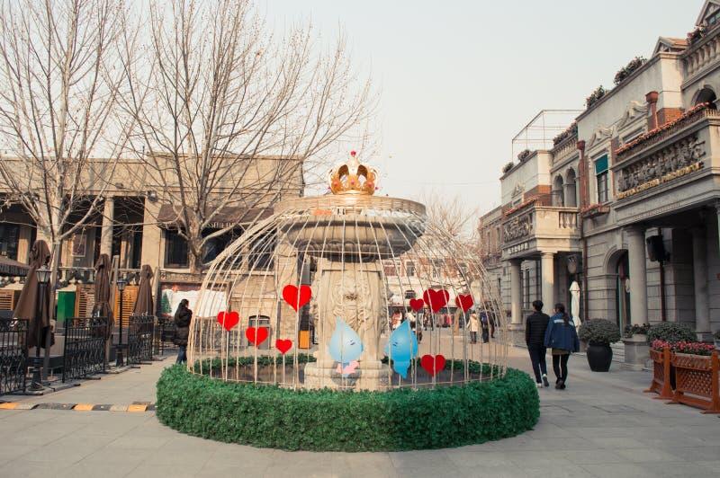 Toeristenstraat in Tianjin stock foto