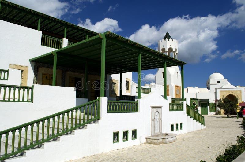Toeristisch dorp in de cruiseterminal van La Goulette in Tunesië stock foto