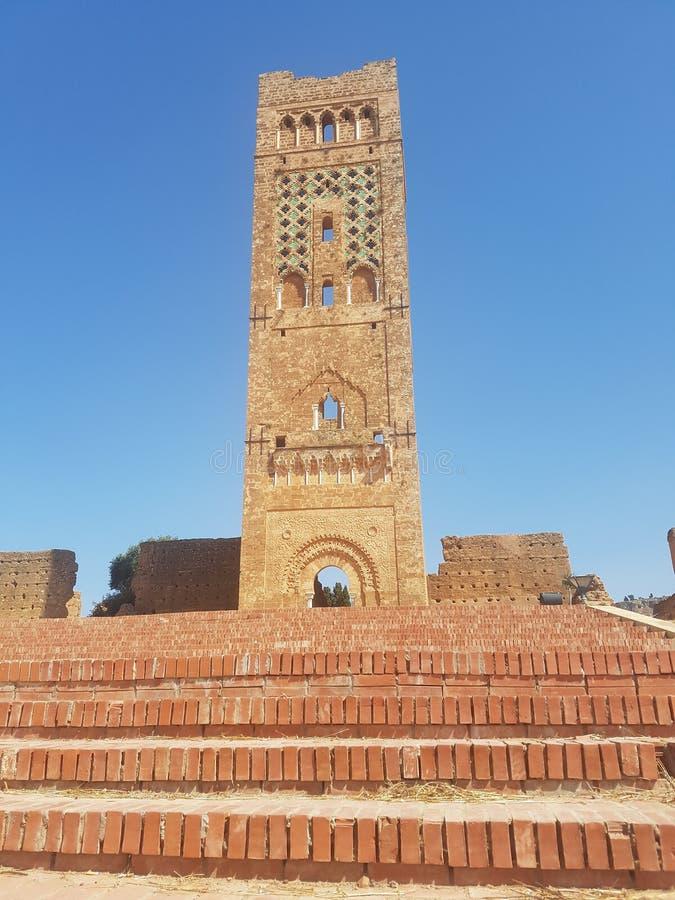 Toeristisch monument van de archeologische plaats & x22; Mansoura& x22; in de stad van Tlemcen Algerije stock foto