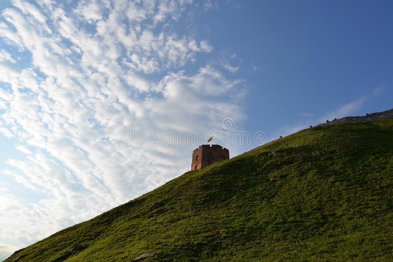 Toeristische attractie in Vilnius stock foto