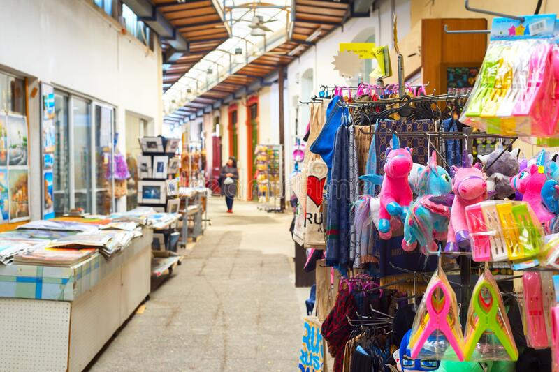 Toeristische, souvenir-markt, Larnaca, Cyprus stock fotografie