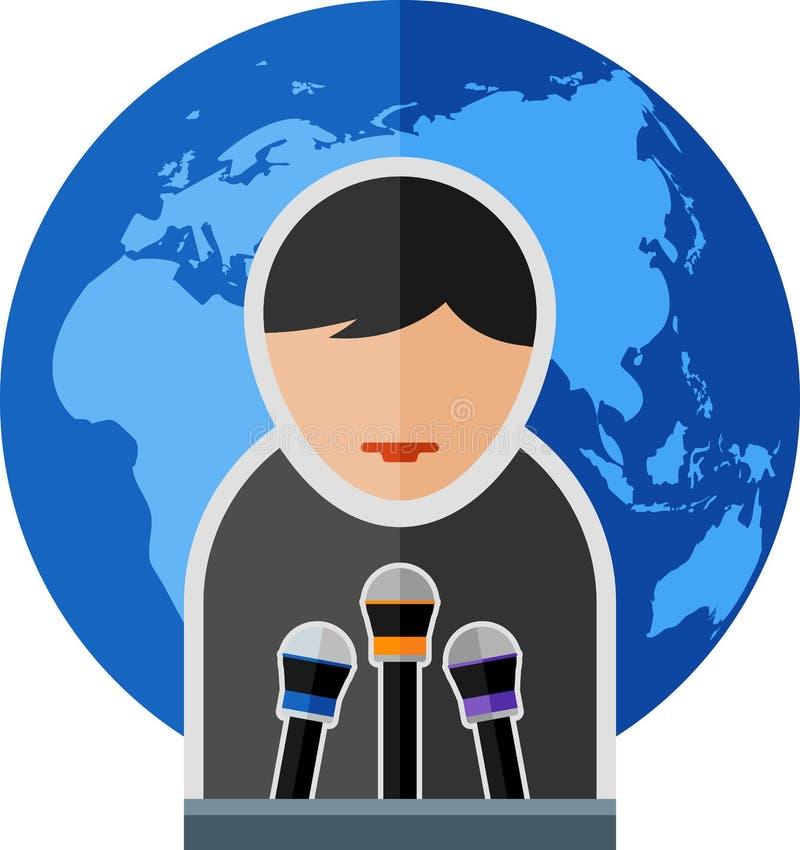 toespraak royalty-vrije illustratie