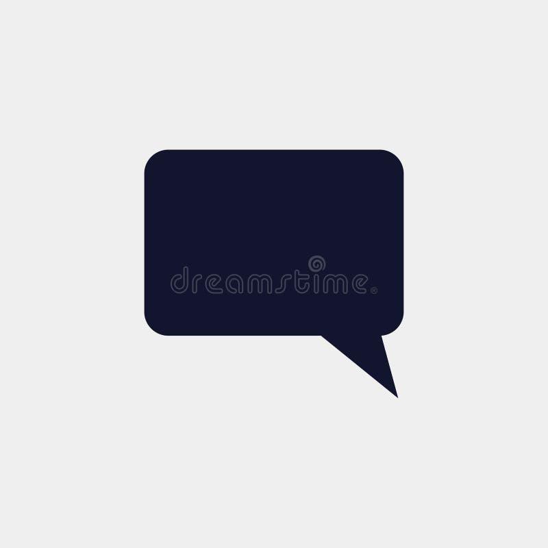 toespraak bubbe pictogram, vectorillustratie Vlakke pictogramvector vector illustratie