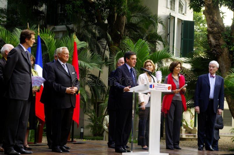 Toespraak door Francis Fillion de Ambassade van Frankrijk i royalty-vrije stock afbeelding