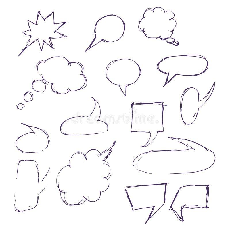 Toespraak van de schets de hand getrokken bel vector illustratie