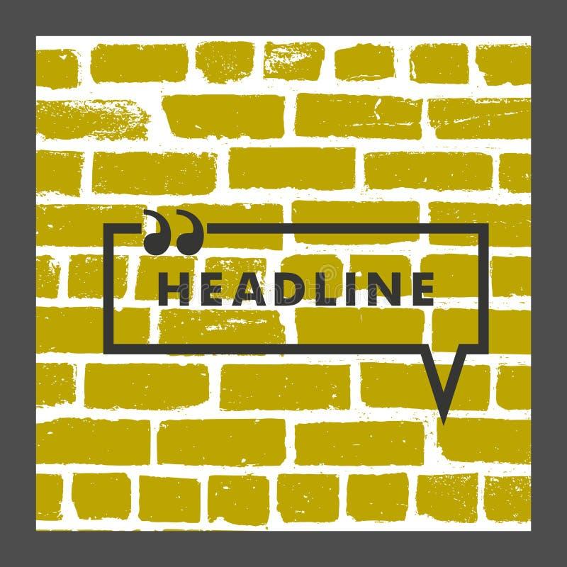 Toespraakbel op een bakstenen muurachtergrond royalty-vrije illustratie